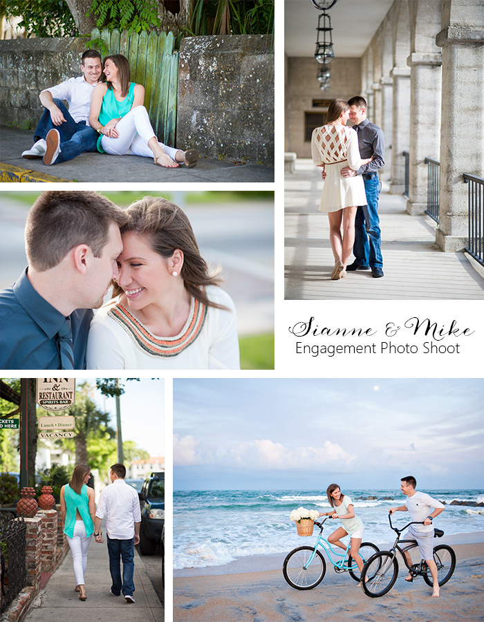 Engagement Photo Shoot Collage