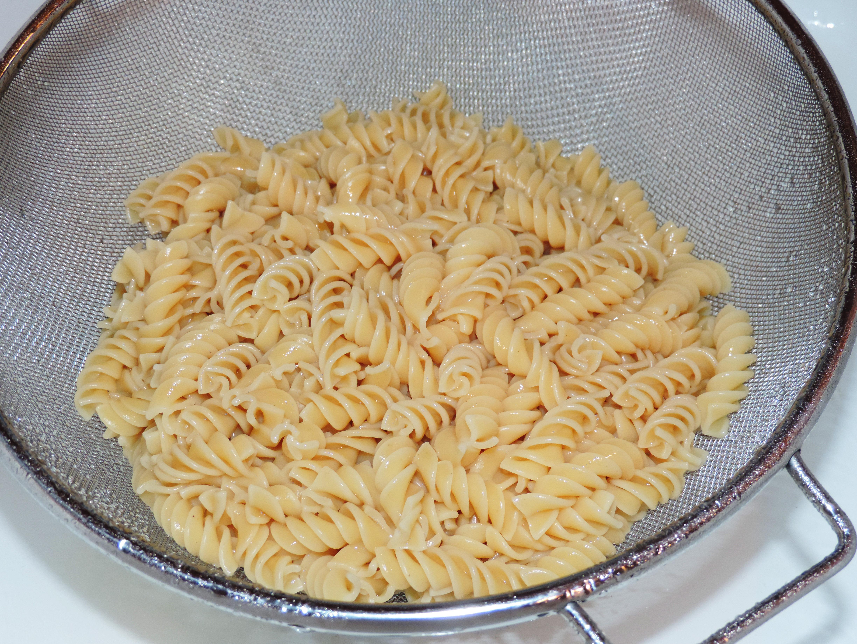 Pasta in Strainer