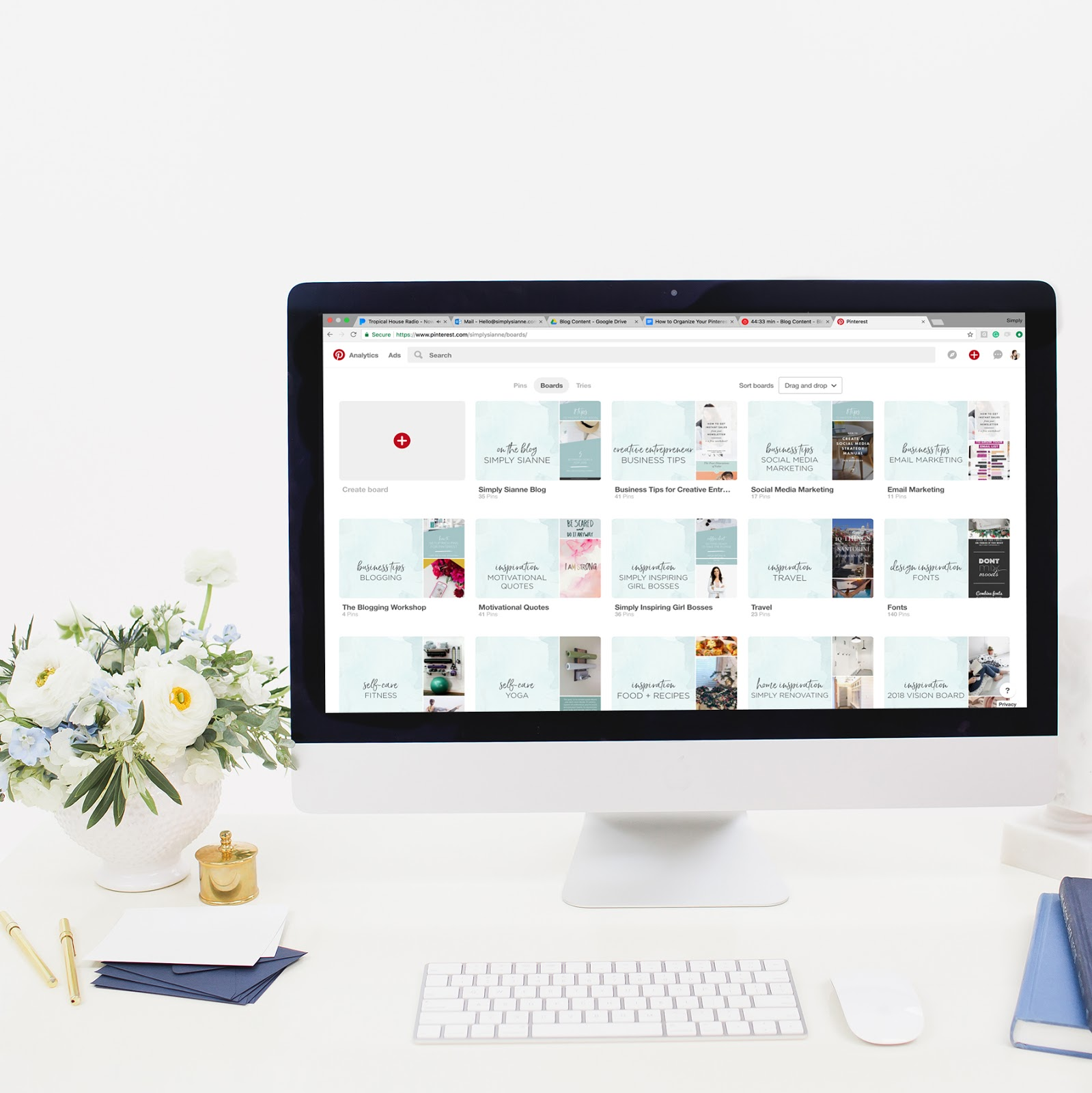 How to Organize Your Pinterest Account with Sections